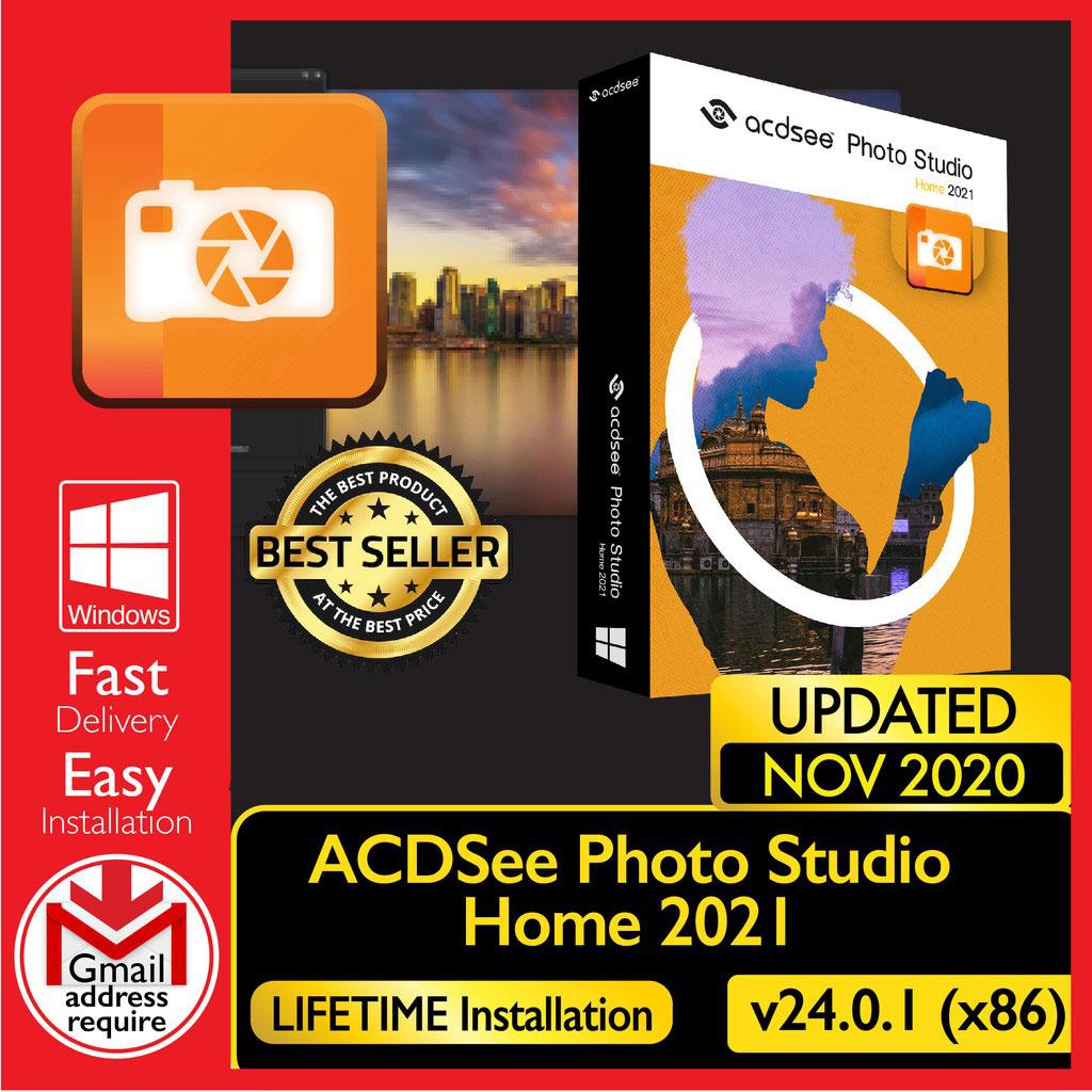 ACDSee Photo Studio Home 2021 v24.0.1[WINDOWS 32/64-bit] – Digital Download