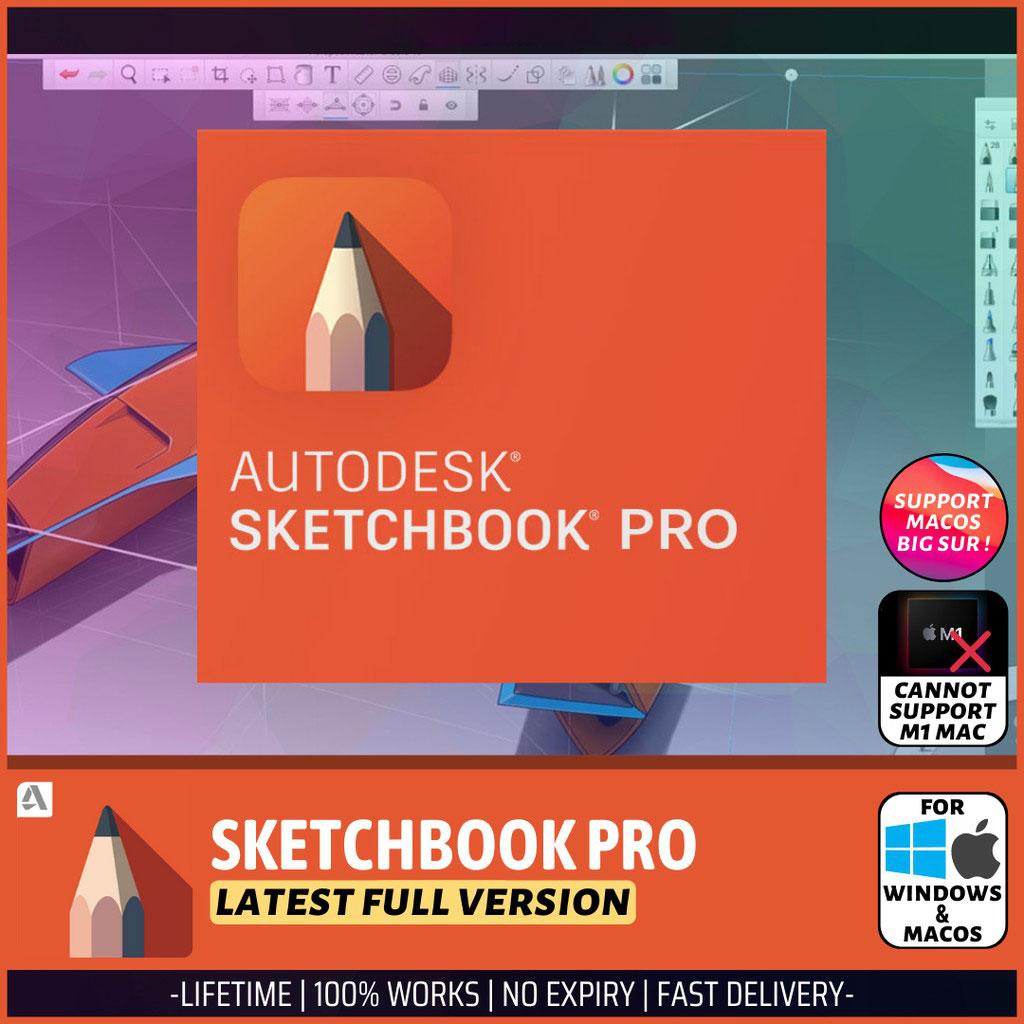 AUTODESK SKETCHBOOK PRO 2021 Lifetime Activation Windows 64 Bit