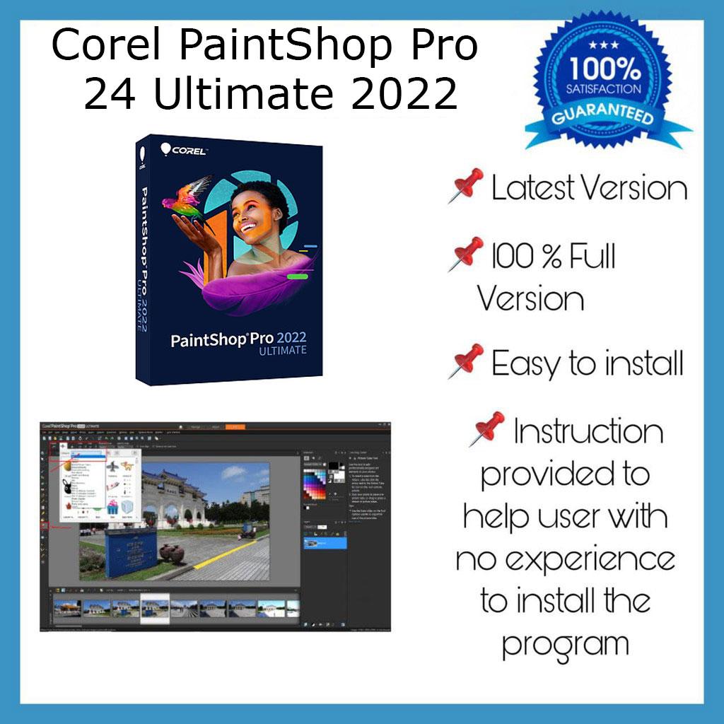 Corel PaintShop Pro 2022 Ultimate Lifetime Activation Windows 64 Bit