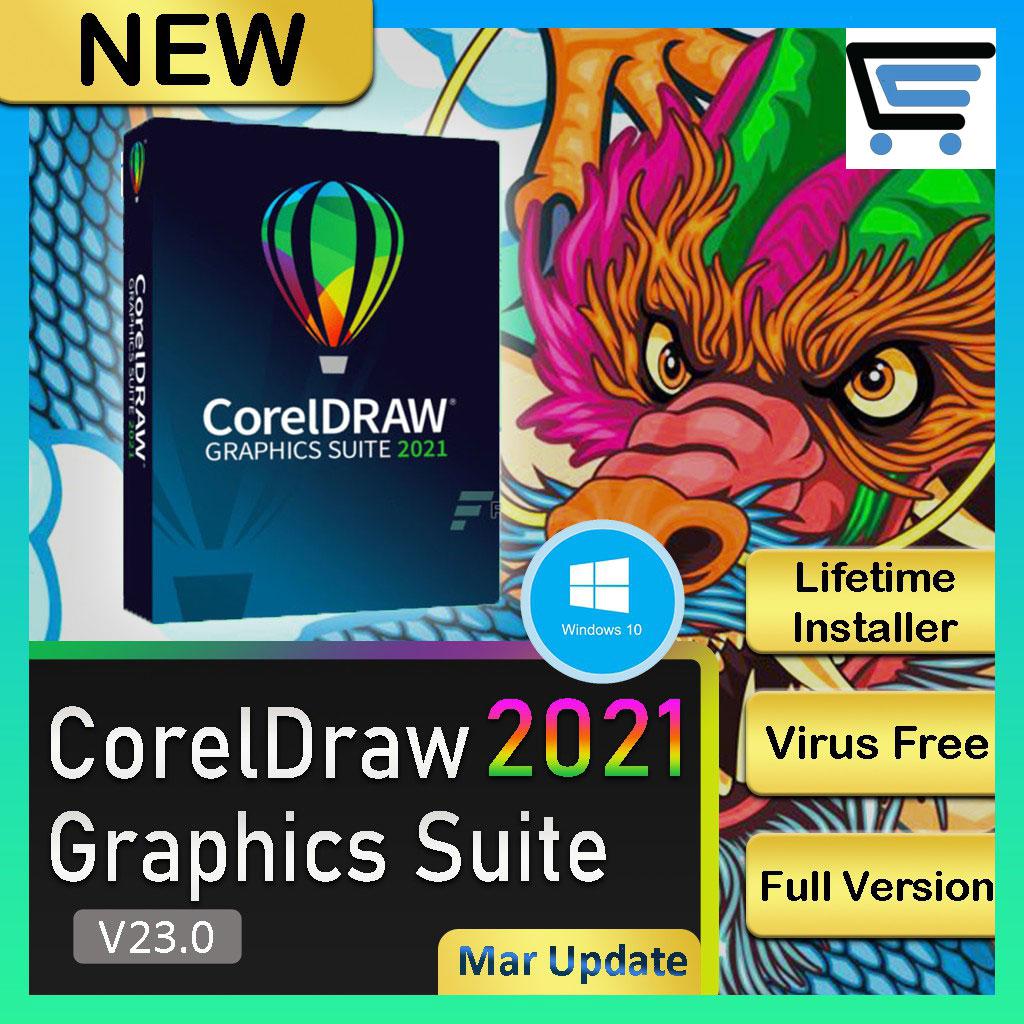 CorelDraw Graphics Suite 2021 (Latest Aug) | Lifetime | No Watermark | Full Version |– [ Windows ]