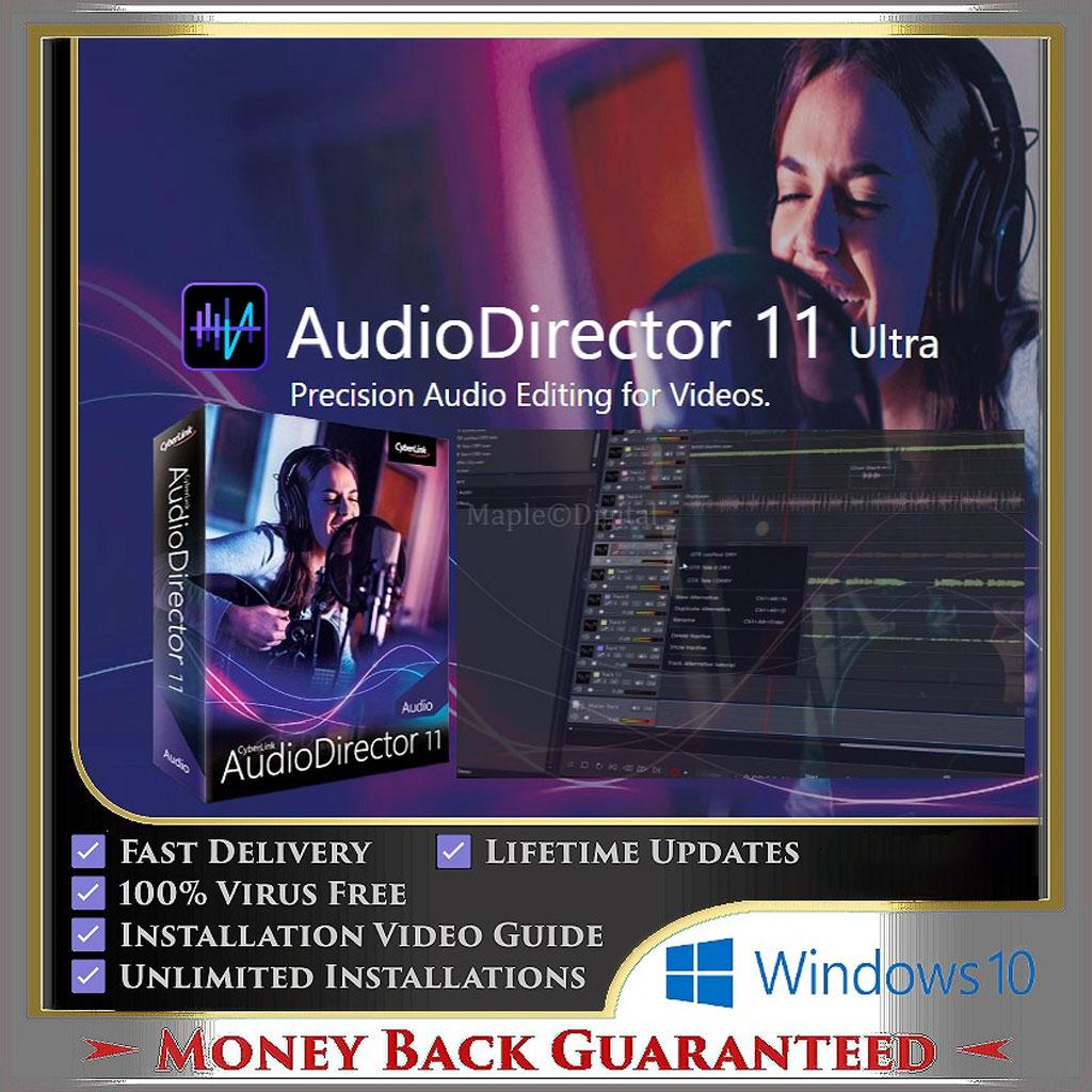 CyberLink AudioDirector Ultra 11.0.2304.0 (Lifetime Full Version for Windows 10)