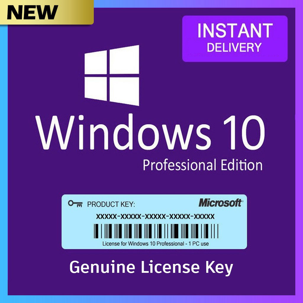 Windows 10 Pro Activates 1 PC Online Autorized Microsoft Partner Genuine  Product Key