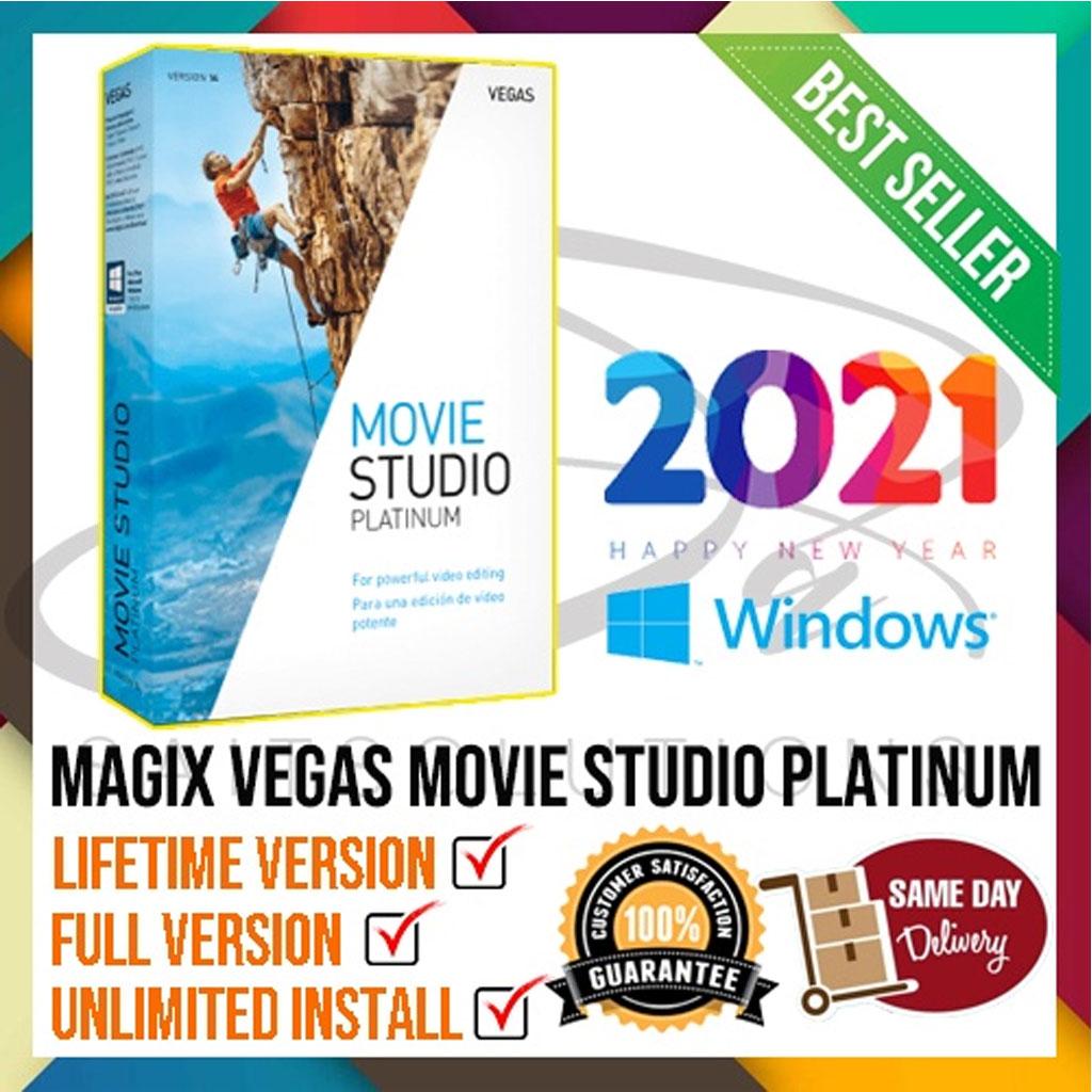 MAGIX VEGAS Movie Studio Platinum 2021 (WINDOWS 64BIT) Latest & Full Version