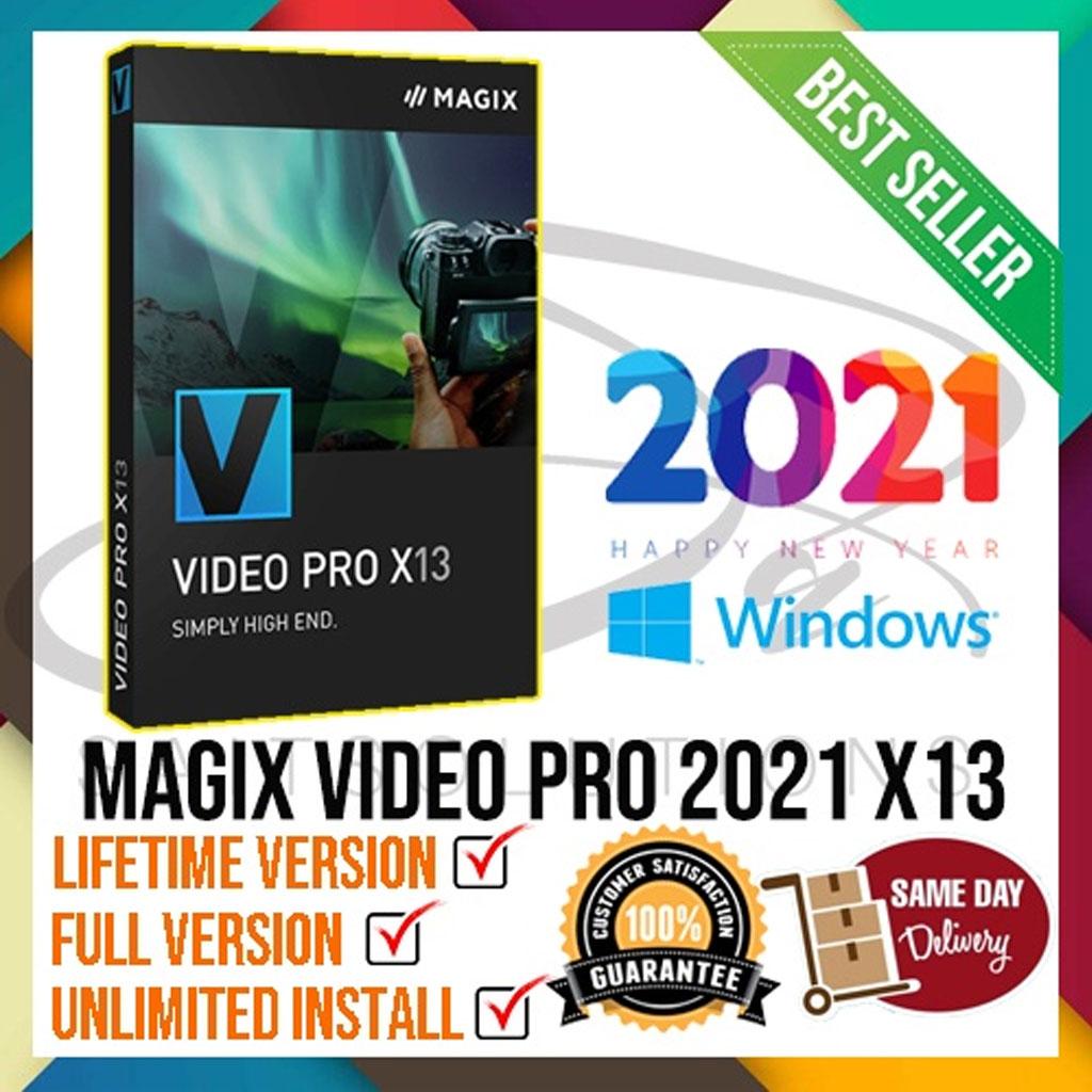 MAGIX Video Pro 2021 X13 (WINDOWS 64BIT) Lifetime Activation