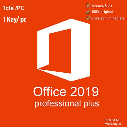 Microsoft Office 2019 Professional Plus – 1 PC – LIFETIME – WINDOWS – Key – GLOBAL