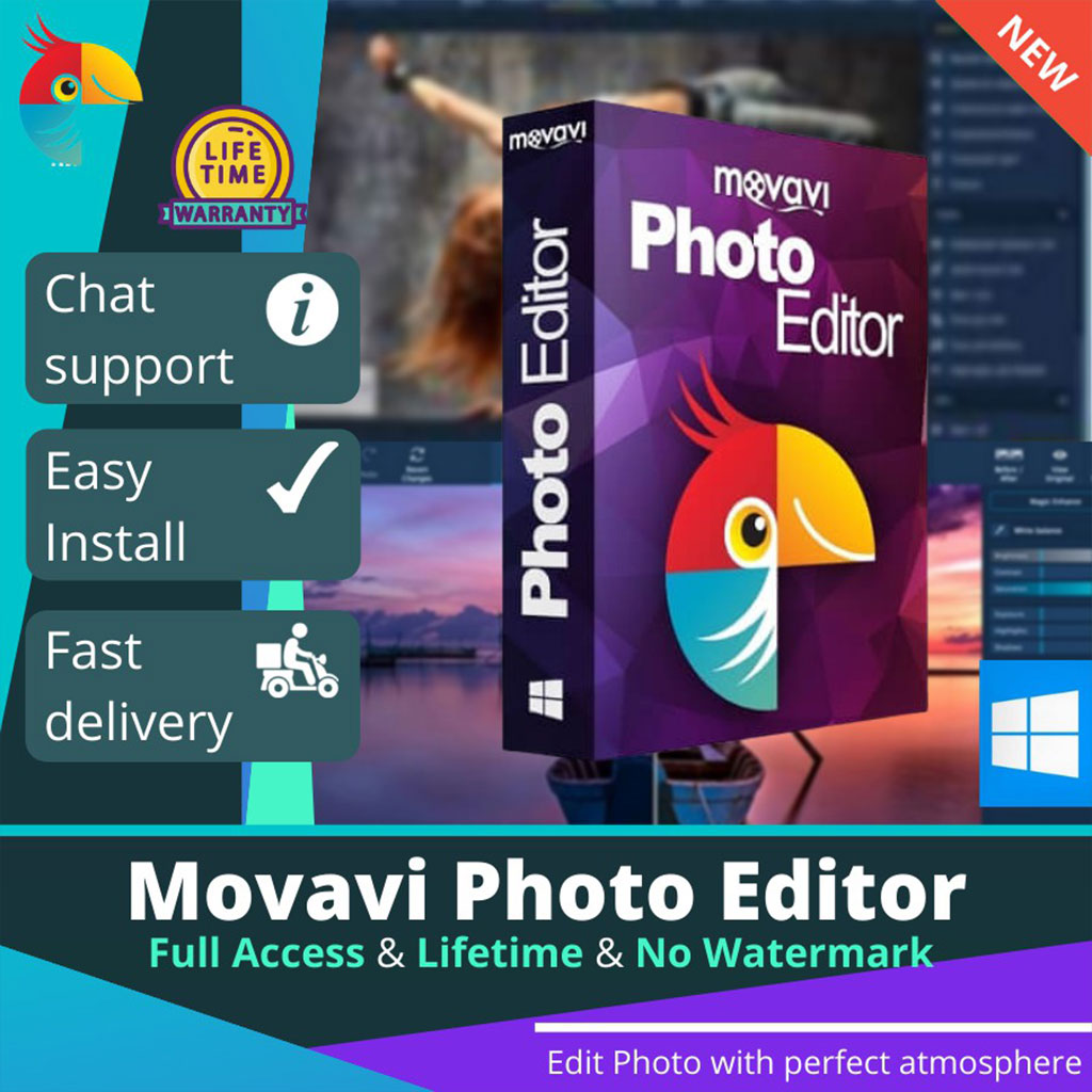Movavi Photo Editor Lifetime Activation Windows 64 & 32 Bit