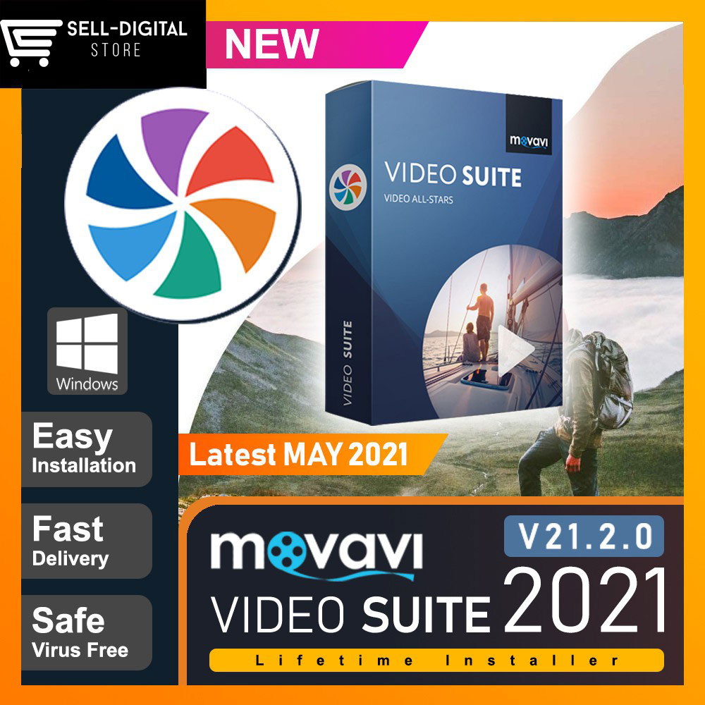 Movavi Video Suite 2021 Lifetime Activation Windows 64 Bit & 32 Bit v21.2.0 (Latest MAY 2021)