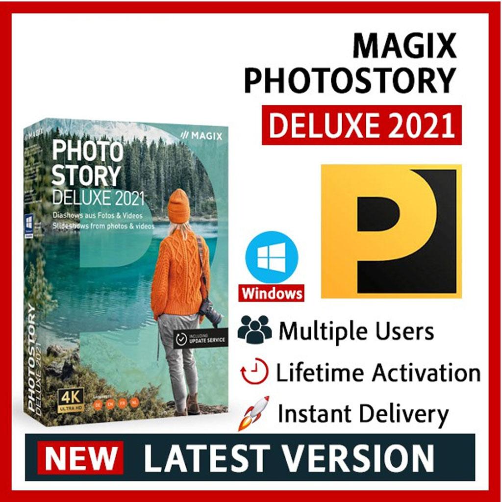 NEW  MAGIX Photostory Deluxe 2021 Lifetime Activation Windows 64 Bit
