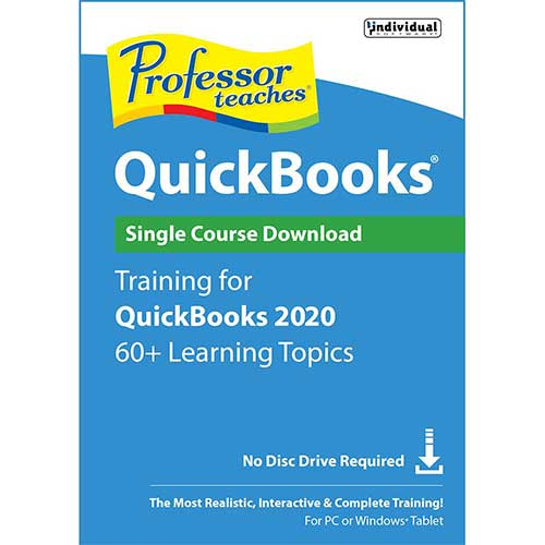 PROFESSOR TEACHES QUICKBOOKS 2020 (Latest Version) PC Software—Win 10,8,7–new