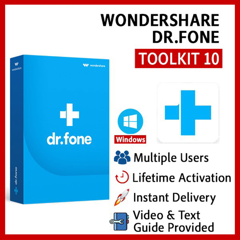 Wondershare Dr.Fone Toolkit for iOS and Android Lifetime activated Version 10