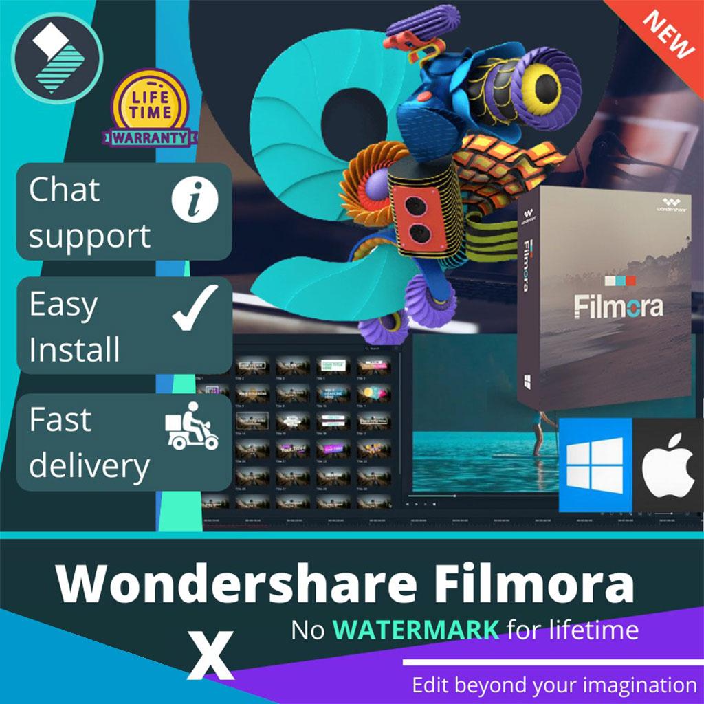 Wondershare Filmora X 10  PREMIUM LiIFETIME v10.1 No Watermark | Full Version |100%work- Windows7-11-Mac