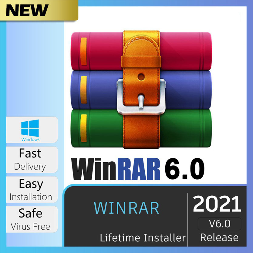WinRar 2021🔥 PRO 6.02 HOT Genuine Lifetime License Windows | Rar & Zip | Full Version |100%work | No Virus