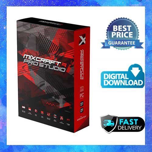 MIXCRAFT 9 PRO STUDIO – AUDIO MUSIC SOFTWARE Lifetime Licence Key