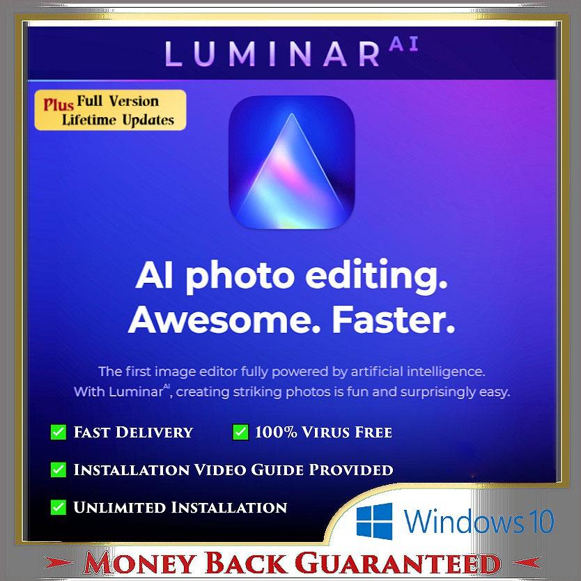 Skylum Luminar AI 1.4.1.8358 | ✅Updated Aug 2021| Lifetime | Activated | No Virus | Full Ver. |