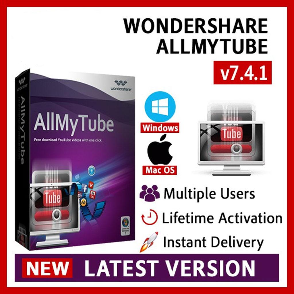 Wondershare AllMyTube 7.4.8 Mac Windows Full Version Lifetime