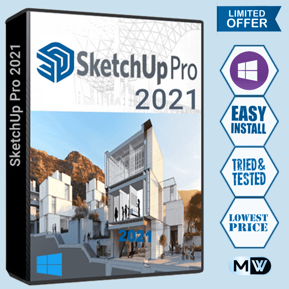 SketchUp Pro 2021  V-Ray Render  Full Version  Key  Multilingual  Windows