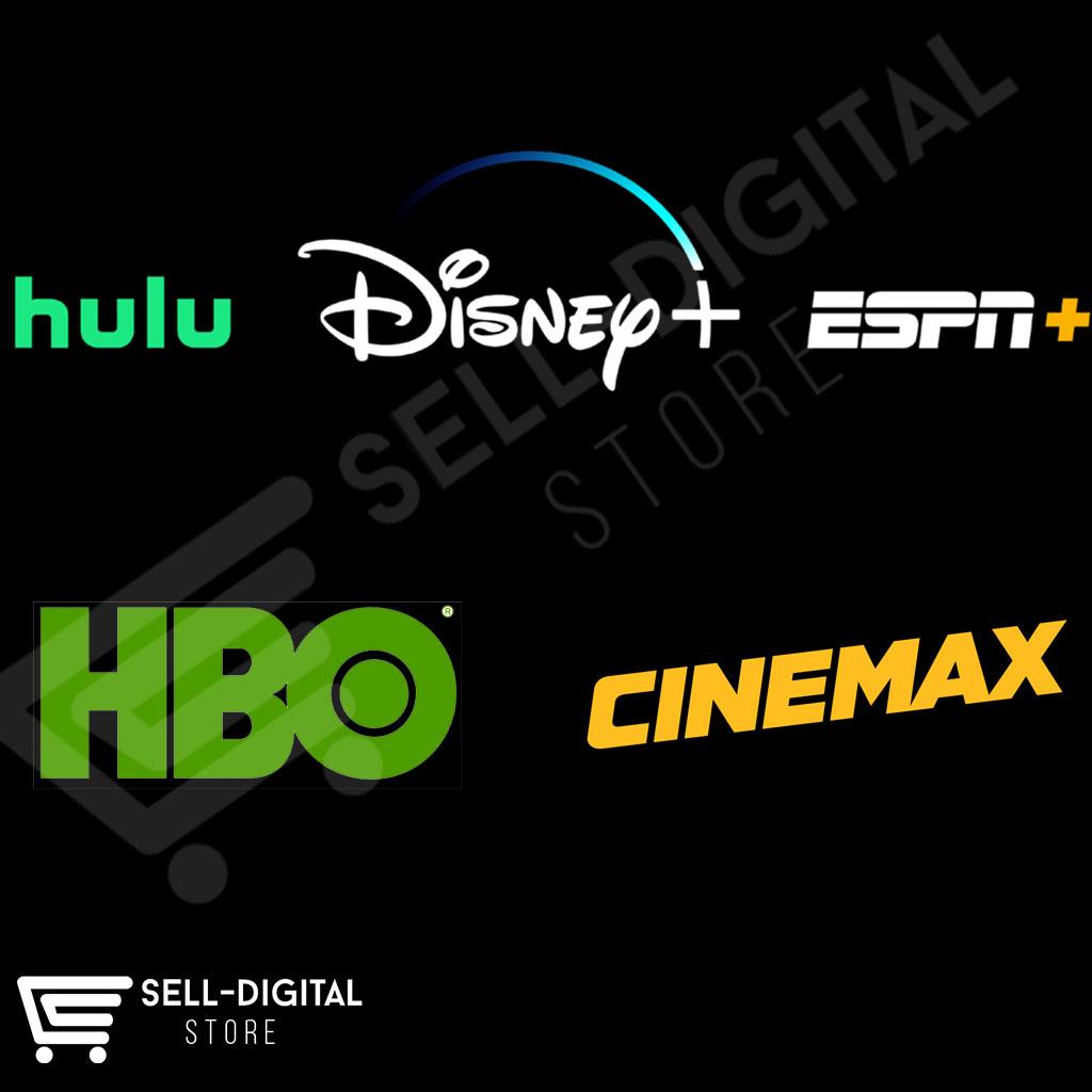 Hulu (No Ads) + Cinemax + Live TV+ Disney Plus + ESPN Plus Accounts – Quick & Easy